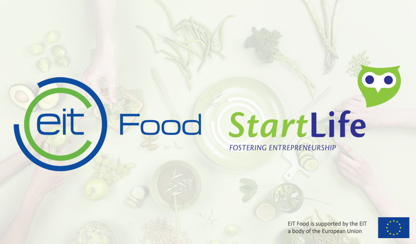 Logos of Partners EIT Food and StartLife